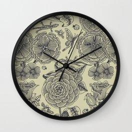 Garden Bliss - vintage floral illustrations  Wall Clock