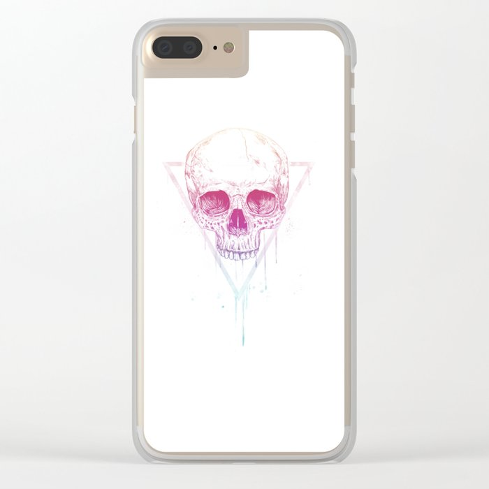 Skull in triangle Clear iPhone Case