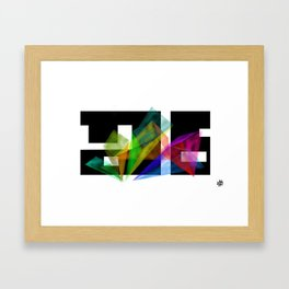 Color Exploration B Framed Art Print