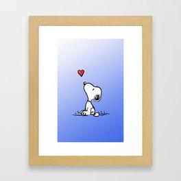 Snoopy in love Framed Art Print
