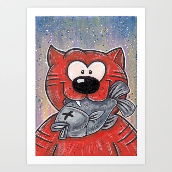 Heathcliff Art Print