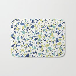 Terrazo in Blue, green and citron Bath Mat