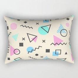 Retro Memphis Geometric Pattern Rectangular Pillow