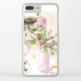 Dreaming in Pink Clear iPhone Case