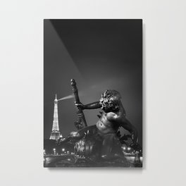 Alexandre III bridge in Paris Metal Print