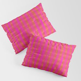 Square intersections pink lines on a orange tree. Pillow Sham