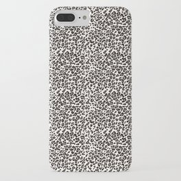 Snow leopard animal print iPhone Case
