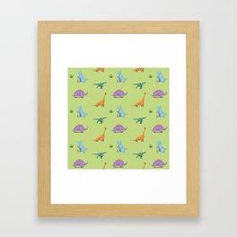 Skating Dino's Framed Art Print