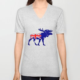 Australian Flag - Moose Unisex V-Neck