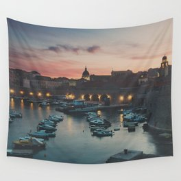 red sky at night ... Wall Tapestry