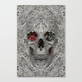 Lace Skull 2 Canvas Print