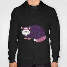 Abstract Cat [WHITE] Hoody