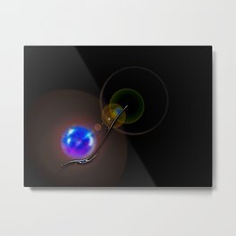 Light and energy - Minimalism Metal Print