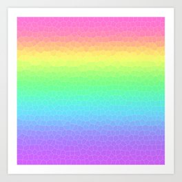 Rainbow Gradient Geometric Art Print