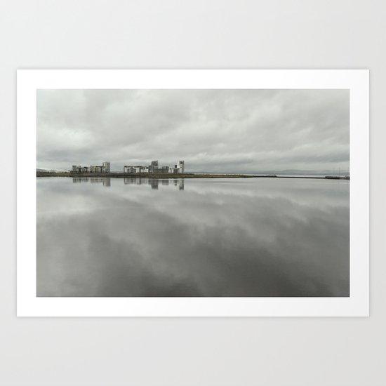 Edinburgh sea side, rainy day Art Print