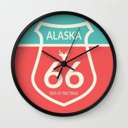 Wilderness: Alaska 66 Wall Clock