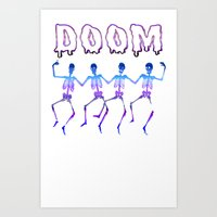 doom Art Prints featuring DOOM by negativecreep