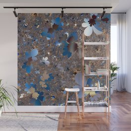 Lace of abstract flower meadow Wall Mural