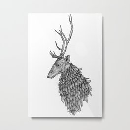 Feathered Stag Metal Print