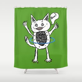 Monster Hula Hoop Shower Curtain