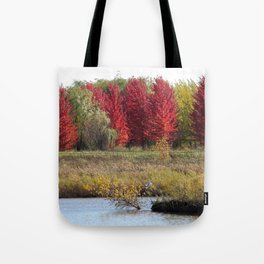 The Red Leaves of Fall Tote Bag