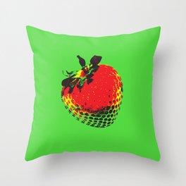 Strawberry Green - Posterized Throw Pillow