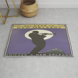 Vintage poster - City of New Orleans Rug