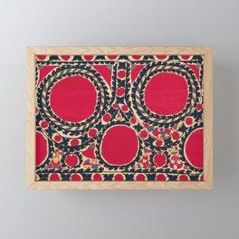 Tashkent Uzbekistan Central Asian Suzani Embroidery Print Framed Mini Art Print