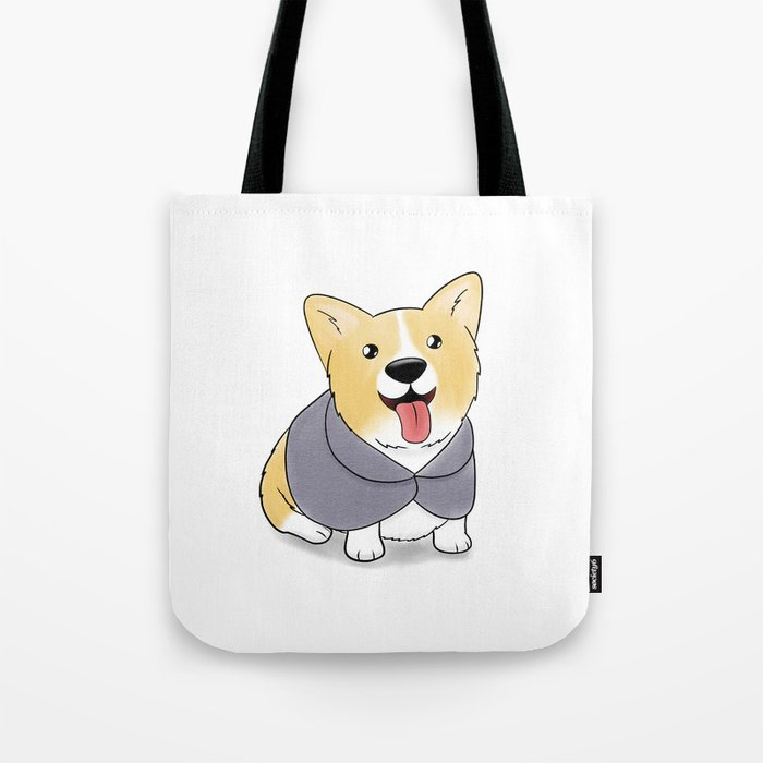 Caped Corgi Tote Bag