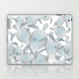 Silver Turtles Pattern Laptop & iPad Skin
