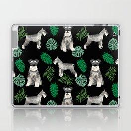 Schnauzer summer monstera tropical pure breed dog gifts Laptop & iPad Skin