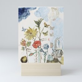 Salvador Dali - Fleurs et papillons Mini Art Print