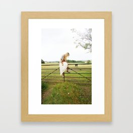 Sitting and waiting Framed Art Print