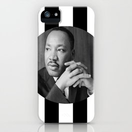 Martin Luther king art work iPhone Case