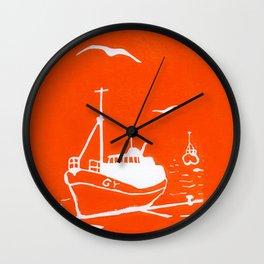 Comrades in Orange Wall Clock