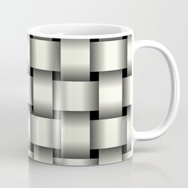 Large Ivory Weave Coffee Mug