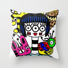 imaginary friends Throw Pillow