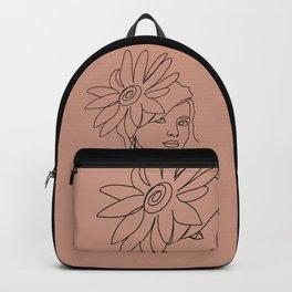 Shy Flower Girl Backpack