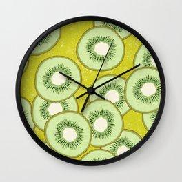 SLICED KIWIS Wall Clock