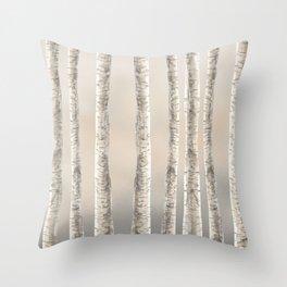 Birches-Winter Throw Pillow