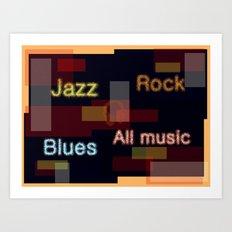ALL MUSIC Art Print