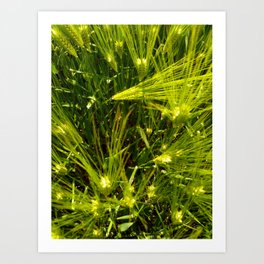 Green Breeze Tangle Art Print