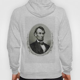 Engraving and anonymous portrait of Abraham Lincoln Hoody