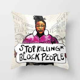 Stop Killing Black People Throw Pillow