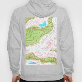 Let's go hiking - topographical map Hoody