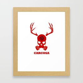 Carcosa Gas Mask Red Framed Art Print