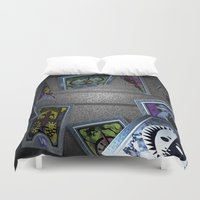 persona Duvet Covers featuring Persona Tarot Cards by KeenaKorn