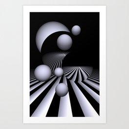 white and round -100- Art Print