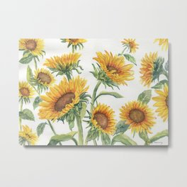 Blooming Sunflowers Metal Print