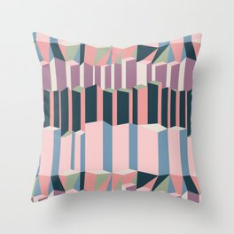 Straight Geometry City 1 Throw Pillow